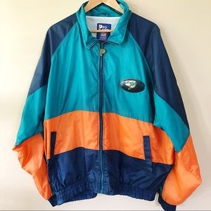 Vintage 1990 Pro Player Miami Dolphins Windbreaker